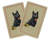 WHO ARE YOU? (2) Vintage Single Swap Playing Cards Paper Ephemera Scrapbook