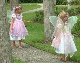 Child or Adult Handmade Pink Pearl Opal PIXIe Fairy WINGS Halloween angel flower rave sass costume xs sweet romantic girl dress up cosplay