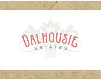 Custom Logo - PreDesigned Logo - PreMade Logo - Vector Logo - OOAK Logo - DALHOUSIE Logo Design - Classic Logo - Vintage Logo