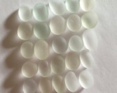 Genuine English Sea Glass White with Soft Hues Jewelry Quality L47