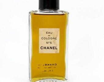 Vintage Chanel No 5 Eau de Cologne, 2 Fl Oz, Chanel Perfume, Vintage Perfume, Full Bottle, Estate Perfume, Chanel Cologne, New York