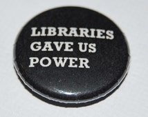 Manic Street Preachers Libraries Gave Us Power Button Badge 25mm / 1 inch