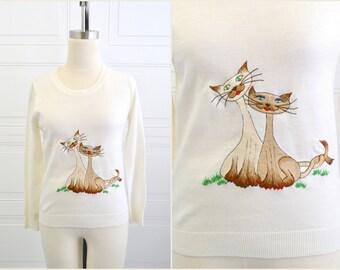 1960s Di Costa Cat Sweater