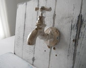 french country tap hook wall hook towel hook faux faucet bath decor rustic hook aged country look bathroom decor cottage chic shabby decor