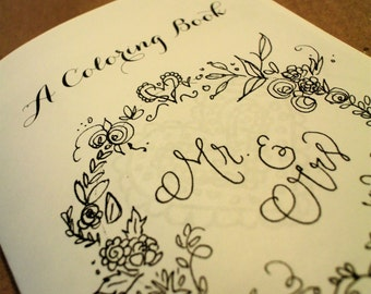 wedding coloring book etsy - Wedding Coloring Book