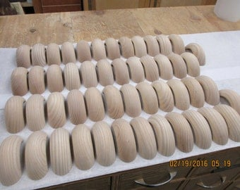 Round Ash drawer handle or pull
