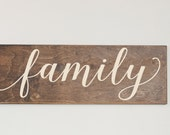 Family Wood Sign, Stained Wood Sign, Home Decor, Wood Stain Sign,  Art for Home, Family Sign, Home Wall Decor, Wood Sign, Rustic Sign