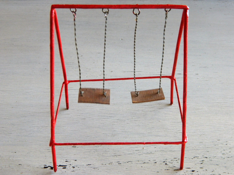 Miniature swing set fairy garden accessories fairy garden for Mini swing set