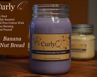 Banana Nut Bread 16oz Soy Candle