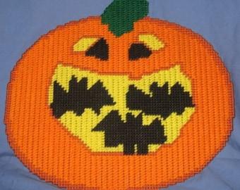 Batty Pumpkin Plastic Canvas Pattern