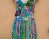 """20%OFF bohemian gypsy pixie inspired multi hued top..,,small to 36"""" bust..."""