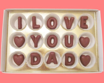 Father's Day Chocolate Funny Dad Gift Stepfather Gift from Daughter Son Father in Law Daddy Gift Unique Message I Love You Dad Box