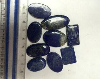 9pcs Lapis Lazuli Cabochons
