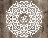 Mandala Boho Vinyl Sticker No.6 bohemian meditate, boho, hippy, floral zen, yoga om