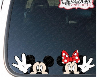 """Mickey and Minnie Mouse Disney """"Hello"""" Vinyl Car Decal"""