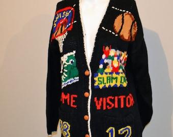 Basketball is Life Vintage Cardigan Sweater