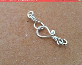 SALE** Sterilng silver hook clasp, handfcrafted silver hook clasp, silver bracelet clasp, silver findings, necklace clasp, hook and eye g...