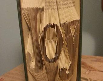 Folded Book Art - Joy