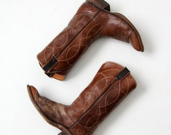SALE vintage 70s Nocona leather cowboy boots, men's size 9 D