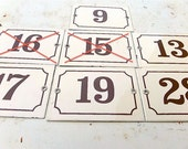 Check your Number Original French vintage house facade number