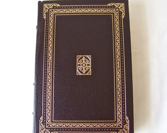 Vintage The Ambassadors Henry James 22k Gold Accents Full Leather Bound Franklin Library Hardcover Book Printed 1980
