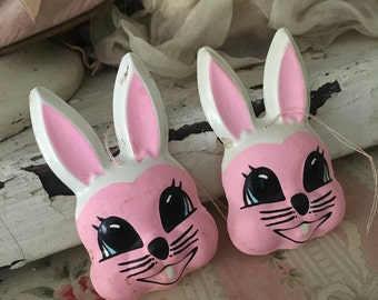 Vintage Easter Bunny Rabbit Face Small Palatic Mask Crafts Design