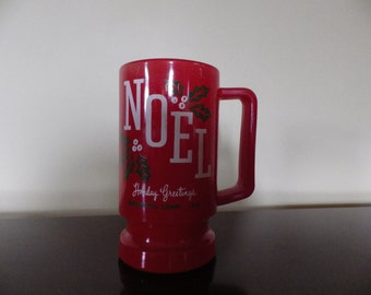 Very rare McKee Jeannette Glass employee gift Christmas mug 1979