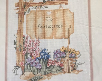 """Elsa Williams Counted Cross Stitch Kit """"The Sign Post"""""""