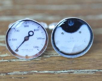 Silver Cufflinks, Vintage Cufflinks, Steampunk Cufflinks, gift for teacher, instrument cufflinks, science cufflinks, corporate gift,cufflink