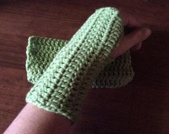 Guava Crochet Fingerless Glove Wrist Warmers