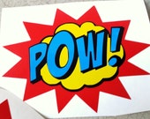POW! Layered Vinyl Sticker Set of 2