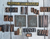 Large Mixed Lot Rubber Stamps Antique wood letter press letter letters