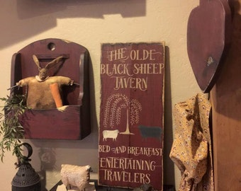 the olde  black sheep tavern sign