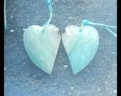Amazonite Heart Gemstone Earring Bead,23x17x5mm,5.12g