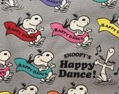 Snoopy fabric one yard grey colour