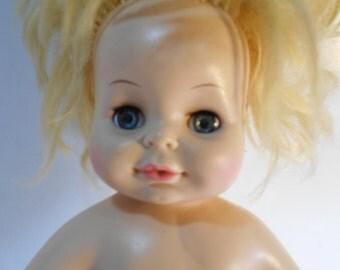Vintage 1971 Horsman Baby's 1st Sofskin Doll Marked 3255 15 EYE 102 Horsman Dolls Inc. 19©71