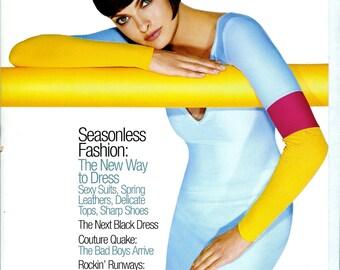 90's Out of Print Fashion Magazine , Harper's Bazaar March 1997 , Linda Evangelista Wears Isaac Mizrahi , Rockin' Runways , and More
