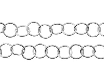 Sterling Silver 7mm Round Wire Circle Chain - 20ft (2453-20)/1