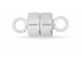 Sterling Silver 4mm Magnetic Clasp   - 2sets 15% discounted Made in USA (4471)/1