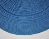 "Light Blue 1 and  1/4"" Cotton Webbing for belts, key chains, dog collars and more Sold by the Yard~~~Ready to Ship"
