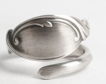 Elegant Ring, Silver Swirl Ring, Sterling Silver Spoon Ring, Wallace Silver, Handcrafted Gift for Her Custom Ring Size, Minimalist Ring 6125