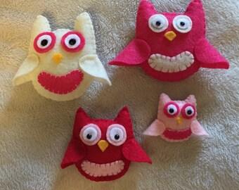 Owl Magnets - Set of 4