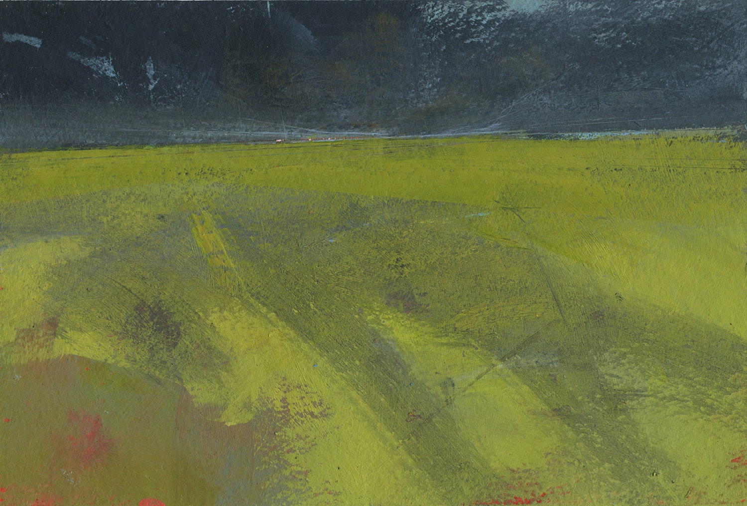 Original minimalist abstract landscape painting lowland for Minimal art landscape