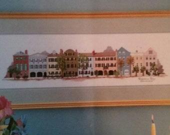 Rainbow Row, Cross Stitch Book, Pattern, Barbara & Cheryl, Vintage 1987, Houses, Charleston, South Carolina, OFG