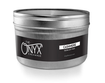 Cashmere Scented Candle - 4 oz. Tin Soy Wax Candle