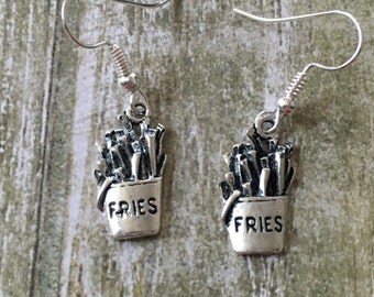 French fry dangle earrings