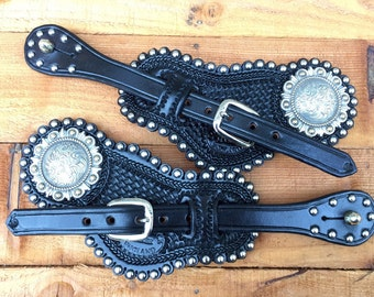 Spur straps with Concho and spots