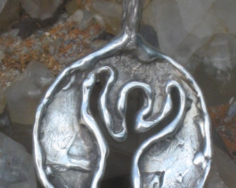 Primitive  Neolithic Celtic Goddess.Moon Goddess.Wiccan Goddess Pendant.Celtic Goddess.Dancing Goddess.Earth Goddess.
