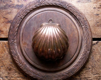 Vintage Shell Shaped Copper Food Mold - Pudding Mold - Made in Italy