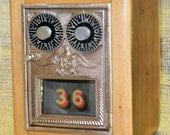 Post Office Door Bank No 36 - Double Dial - Circa 1930 - 1954 - Barn Wood - FREE SHIPPING